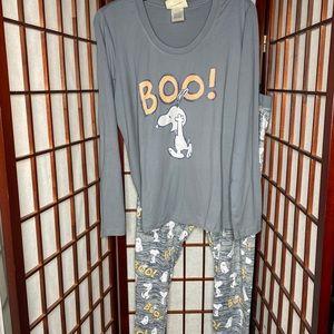 Peanuts snoopy halloween pajama set